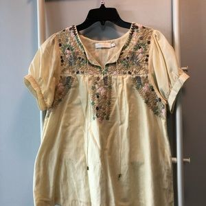 MM Couture peasant top
